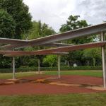 Luthergarten schwebendes Kreuz