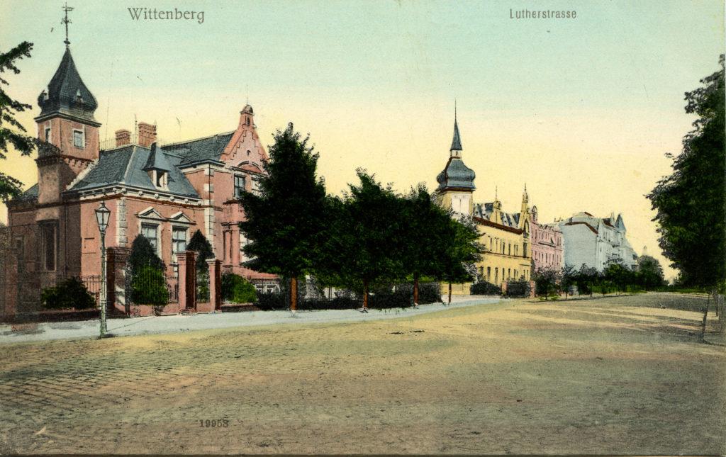 Postkartenansich der Lutherstraße
